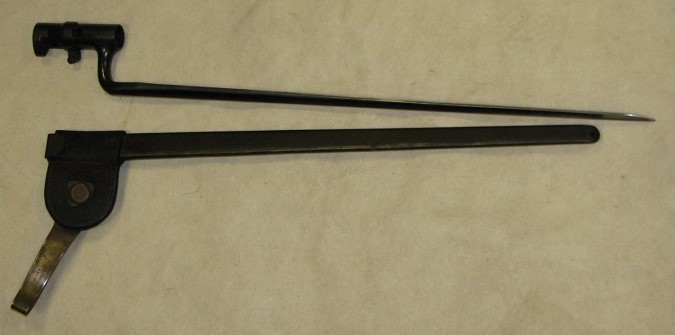 Civil War U.S. Bayonet 1861 Remington & Frog Scabbard